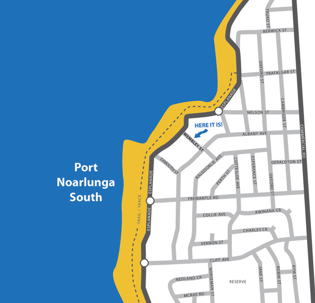 Map of Port Noarlunga South